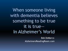 Reality of Alzheimer's